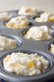Mango Muffin Pastry. Selective focus image of a baking tray with mango muffin pastry Royalty Free Stock Photo