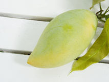 Mango. Is the native fruit of South East Asia . It can be eaten raw or riped Stock Photography