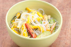 Mango and noodle summer salad Stock Photos