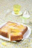 Mango Omgekeerde Cake Royalty-vrije Stock Foto's