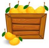 Mango op houten banner royalty-vrije illustratie