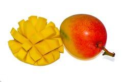Mango op witte achtergrond wordt geïsoleerd die royalty-vrije stock afbeeldingen