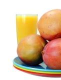 Mango and orange juice Royalty Free Stock Images
