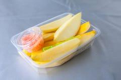Mango på packen för äter Royaltyfri Foto