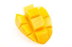 Mango på vitbakgrund Arkivbilder