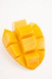Mango på vitbakgrund arkivbild