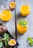 Mango with Passion fruit smoothie Stock Image