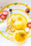 Mango passion fruit tart Royalty Free Stock Image
