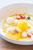 Mango passion fruit tart Royalty Free Stock Photo