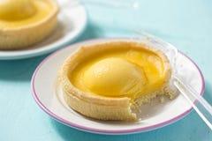 Mango passion fruit tarts Stock Photography