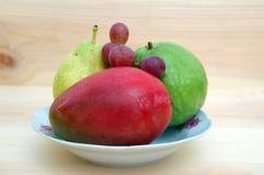 Mango, peach, grape, and guava Stock Image