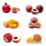 Mango, peach, pomegranate. Royalty Free Stock Photos
