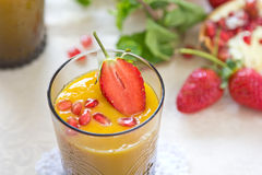 Mango and Pear smoothie Royalty Free Stock Photo