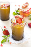 Mango and Pear smoothie Stock Images