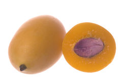 Mango Plums Isolated Stock Photos