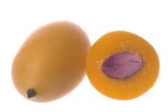 Mango Plums Isolated Stock Photos