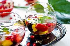 Mango and Pomegranate sangria Stock Photography