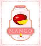 Mango product label Stock Image