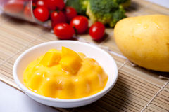 Mango Pudding Royalty Free Stock Image