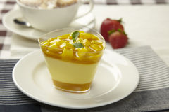 Mango pudding Stock Images