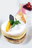 Mango puff pastry. Photograph of mango chocolate puff pastry Royalty Free Stock Photography