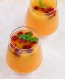 Mango and Raspberry Mojito stock photos