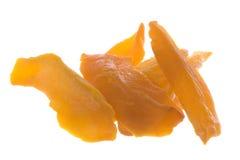 Mango rebanado deshidratado aislado Foto de archivo libre de regalías