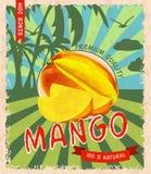 Mango retro poster Stock Image
