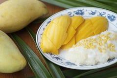 Mango rice#3 appiccicoso Fotografia Stock Libera da Diritti