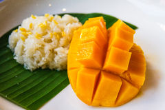 Mango with rice. royalty free stock photography