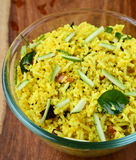 Mango Rice. Is a South Indian rice preparation usually eaten as a snack royalty free stock photography
