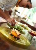 Mango roll cake Stock Images