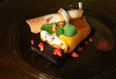 Mango roll cake Royalty Free Stock Photo