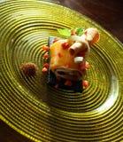 Mango roll cake Stock Photo