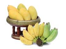 Mango's op container Stock Afbeelding