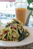 Mango salad or Som Tam Mango. Thai delicious green Mango salad taste hot and spicy Stock Photo