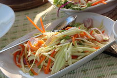 Mango salad. A spicy mango salad with vegetable and chili Stock Image