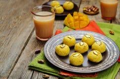 Mango sandesh. Bengali sweets Royalty Free Stock Photo