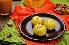 Mango sandesh. Bengali sweets Stock Images