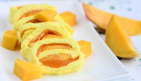 Mango Sandesh, Indian sweet Stock Photo