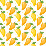 Mango seamless pattern, endless background, texture. Fruits . Vector illustration. Mango seamless pattern, endless background, texture. Fruits background Vector Stock Photography