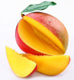 Mango with section stock photography