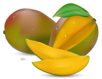Mango with section Royalty Free Stock Photos