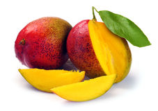 Mango with section Stock Images