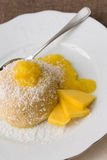 Mango Semolina  Pudding Stock Photo