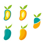 Mango. A set of mango icons Stock Image