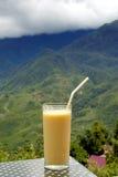 Mango shake. Fruit drink at North vietnam Stock Photo