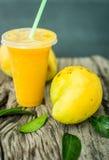 Mango shake. Fresh tropical fruit smoothies Royalty Free Stock Photography