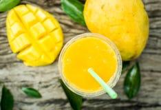 Mango shake. Fresh tropical fruit smoothies Stock Image