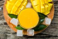 Mango shake. Fresh tropical fruit smoothies Stock Images
